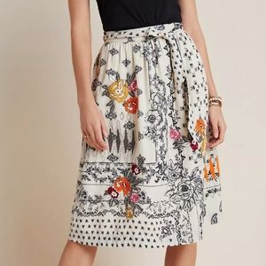 Anthropologie Vineet Bahl Embroidered Skirt NWT